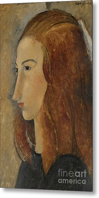 Portrait Of A Young Woman  Metal Print by Amedeo Modigliani