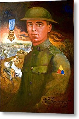 Portrait Of Corporal Roberts Metal Print