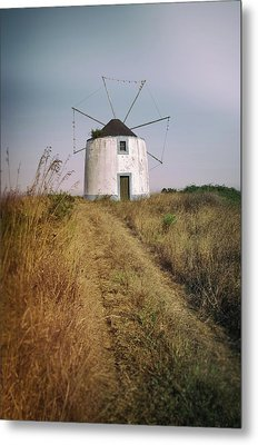 Portuguese Windmill Metal Print by Carlos Caetano