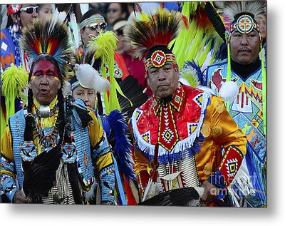 Pow Wow Beauty Of The Past 8 Metal Print by Bob Christopher