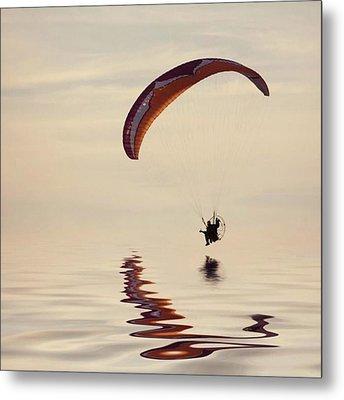 Powered Paraglider Metal Print