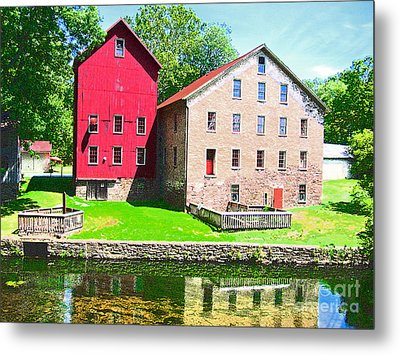 Prallsville Mill Metal Print by Addie Hocynec