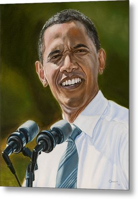 President Barack Obama Metal Print by Christopher Oakley