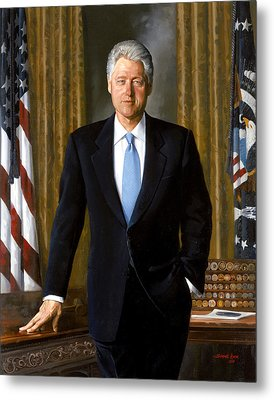 President Bill Clinton Metal Print by War Is Hell Store