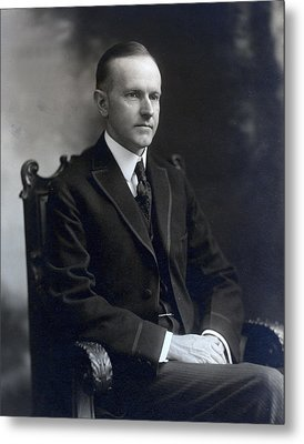 President Calvin Coolidge Metal Print by International  Images