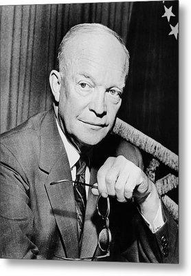 President Dwight Eisenhower  Metal Print by War Is Hell Store