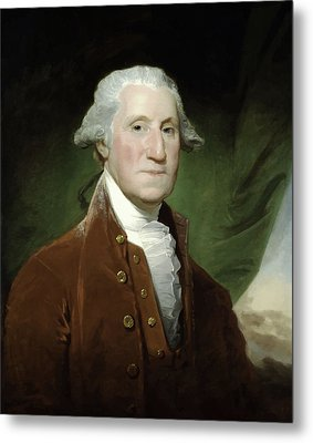 President George Washington  Metal Print by War Is Hell Store