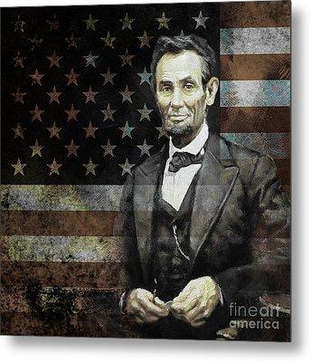 President Lincoln  Metal Print by Gull G