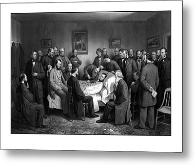 President Lincoln's Deathbed Metal Print