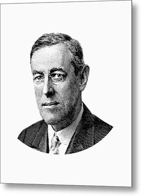 President Woodrow Wilson Graphic Metal Print by War Is Hell Store