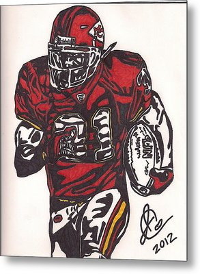 Metal Print featuring the drawing Priest Holmes 2 by Jeremiah Colley