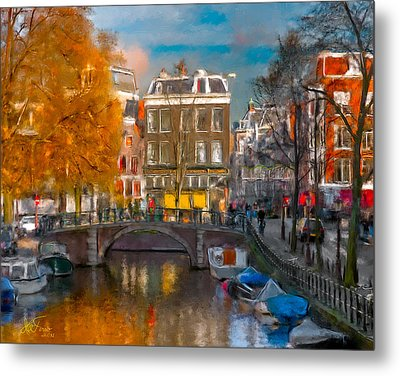 Metal Print featuring the photograph Prinsengracht 807. Amsterdam by Juan Carlos Ferro Duque