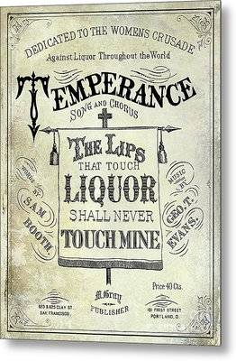 Prohibition Lips Metal Print by Jon Neidert