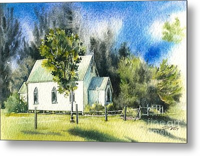 Promised Land Church Metal Print by Sandra Phryce-Jones