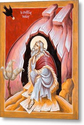 Prophet Elijah  Metal Print by Julia Bridget Hayes