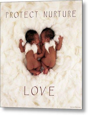 Protect Nurture Love Metal Print by Anne Geddes