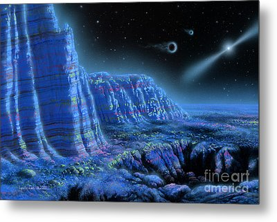Pulsar Planets II Metal Print by Lynette Cook