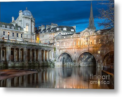 Pulteney Bridge, Bath Metal Print by Colin Rayner