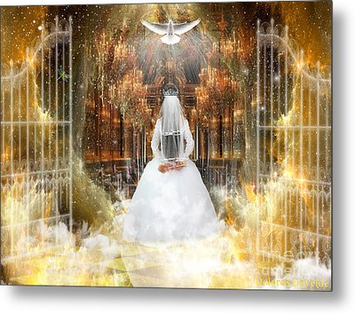 Pure Bride Metal Print by Dolores Develde