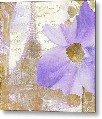 Purple Paris I Metal Print