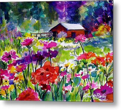 Quaint Taylorsville Afternoon Metal Print by Therese Fowler-Bailey