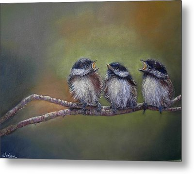 Metal Print featuring the painting Quarelling by Ceci Watson