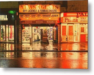 Rain Town Metal Print