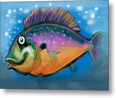 Rainbow Fish Metal Print by Kevin Middleton