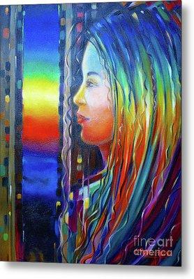 Rainbow Girl 241008 Metal Print