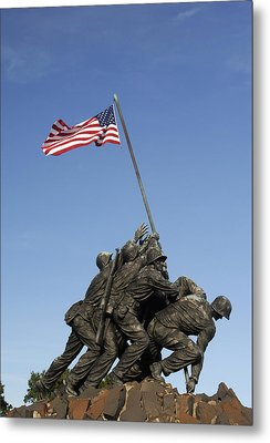 Raising The Flag On Iwo - 799 Metal Print by Paul W Faust -  Impressions of Light