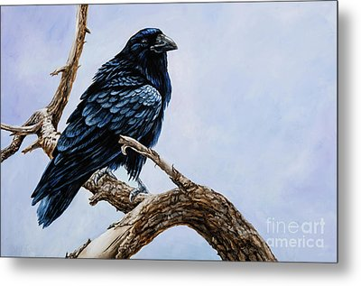 Metal Print featuring the painting Raven by Igor Postash