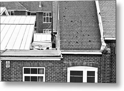 Red Brick Buildings Metal Print by Tom Gowanlock