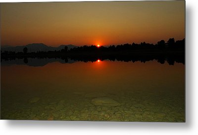 Metal Print featuring the photograph Red Dawn by Eric Dee