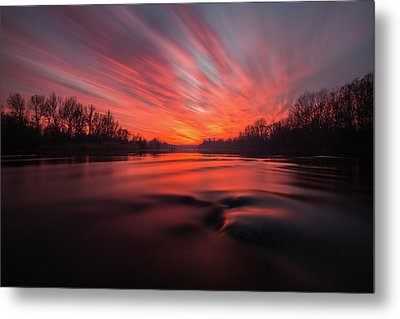 Metal Print featuring the photograph Red Dusk by Davorin Mance