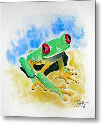 Red Eyed Tree Frog Metal Print by Jimmy Smith