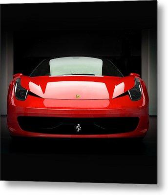 Red Ferrari 458 Metal Print by Matt Malloy