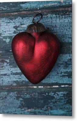 Red Heart Metal Print