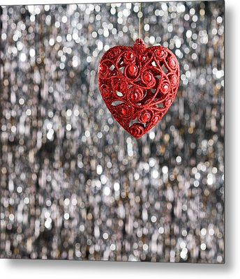 Metal Print featuring the photograph Red Heart by Ulrich Schade