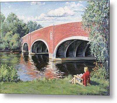 Red Of The Charles Metal Print by Steven A Simpson