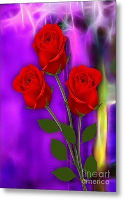 Red Roses Collection Metal Print by Marvin Blaine