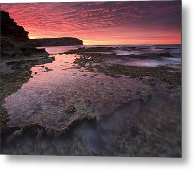 Red Sky At Morning Metal Print by Mike  Dawson