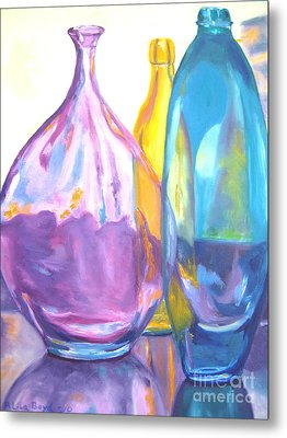Reflections In Glass Metal Print by Lisa Boyd