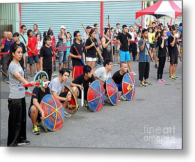 Metal Print featuring the photograph Religious Martial Arts Performance In Taiwan by Yali Shi