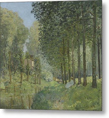 Rest Along The Stream  Metal Print by Alfred Sisley