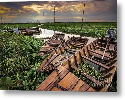 Rest Of Boat Metal Print by Arik S Mintorogo