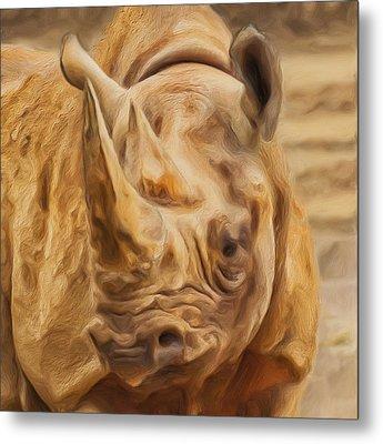 Rhino Metal Print by Jack Zulli