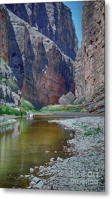 Rio Grande At Santa Elena Canyon Metal Print