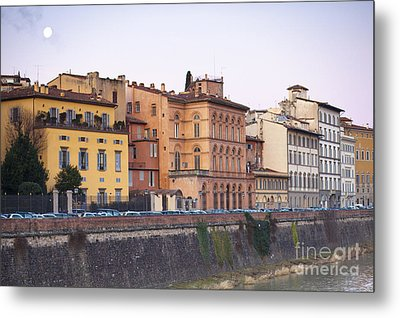 River In Florence Metal Print by Andre Goncalves