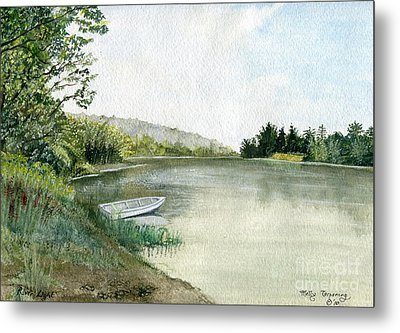 Metal Print featuring the painting River Light by Melly Terpening