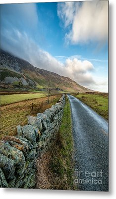 Road To Winter Metal Print by Adrian Evans